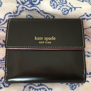 NWT Kate Spade Brown and Pink Wallet